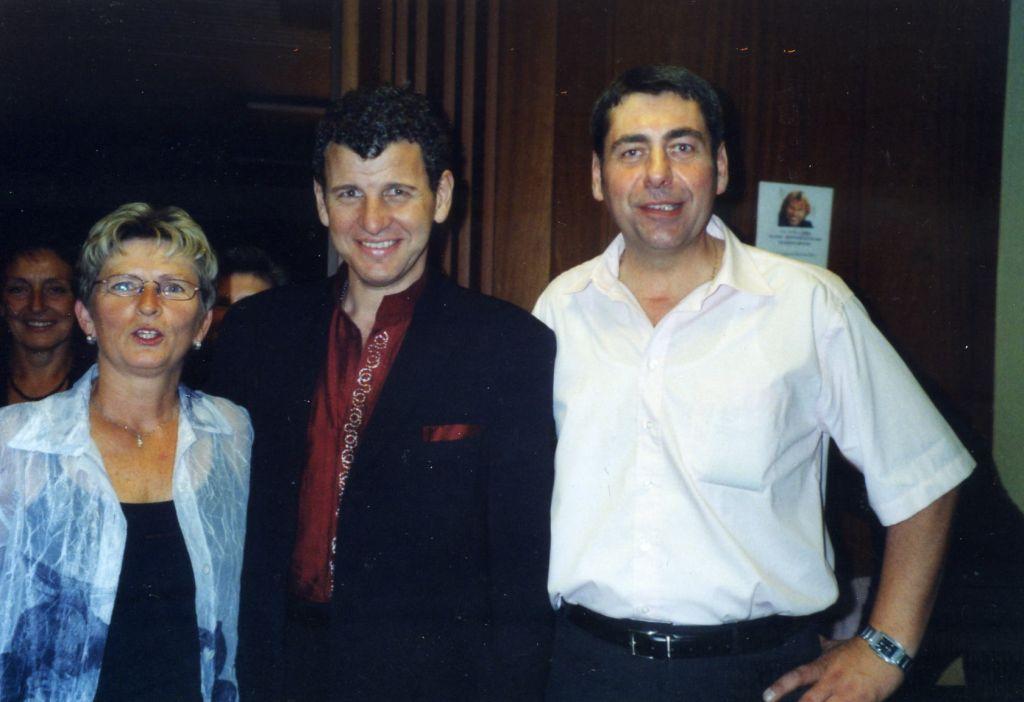 Gabi, Semino Rossi und Claudio Barczewski beim ersten Deutschlandkonzert in Obersasbach, 2005