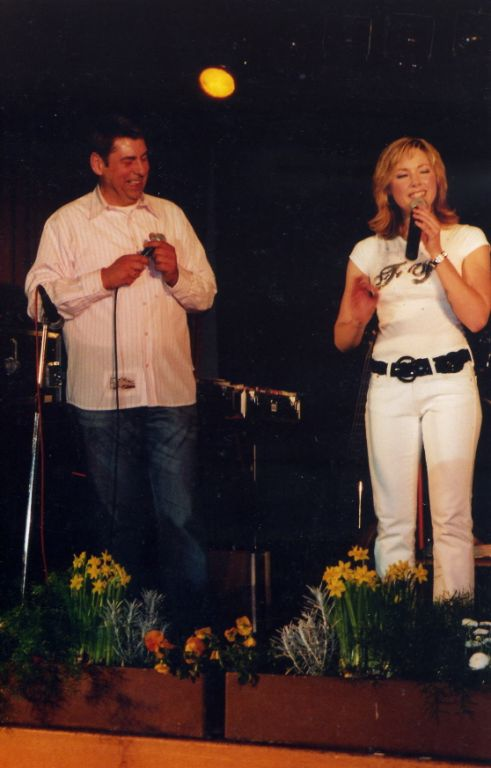 Helene Fischer und Discjockey Claudio in Obersasbach, April 2007