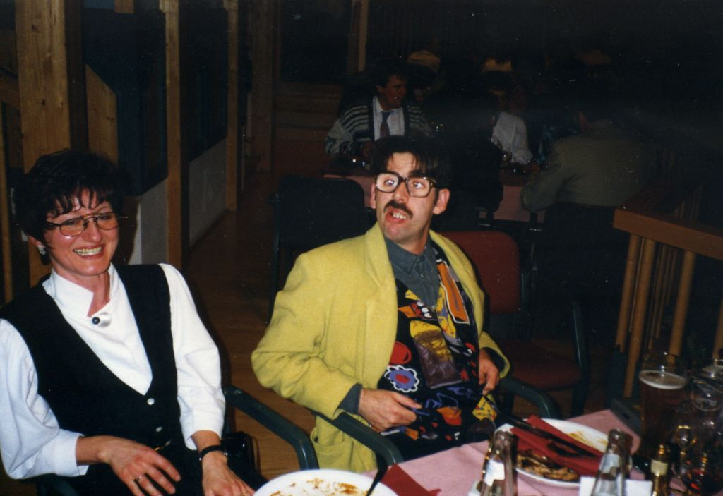 Kollegen und Kolleginnen bei KOCH MUSIC, aus der Schweiz, Österreich und Deutschland, Weihnachtsfeier in Höfen, 1996