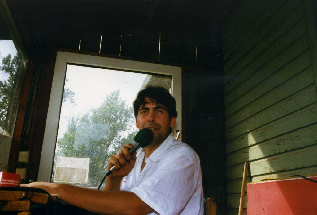 Streckensprecher beim StockCarClub Neuenburg a. Rhein, 1987